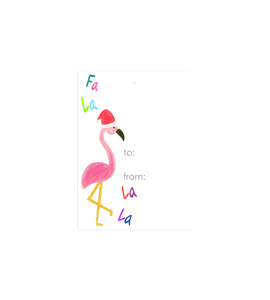 Holiday Flamingo Gift Tag