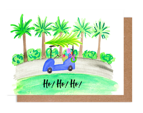 Ho Ho Ho Holiday Golf Cart Card