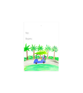Holiday Golf Cart Gift Tags