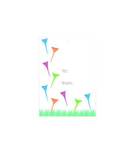 Golf Tees Gift Tags