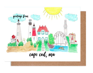 Greetings from Cape Cod, MA Card