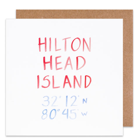 hilton head island coordinate card