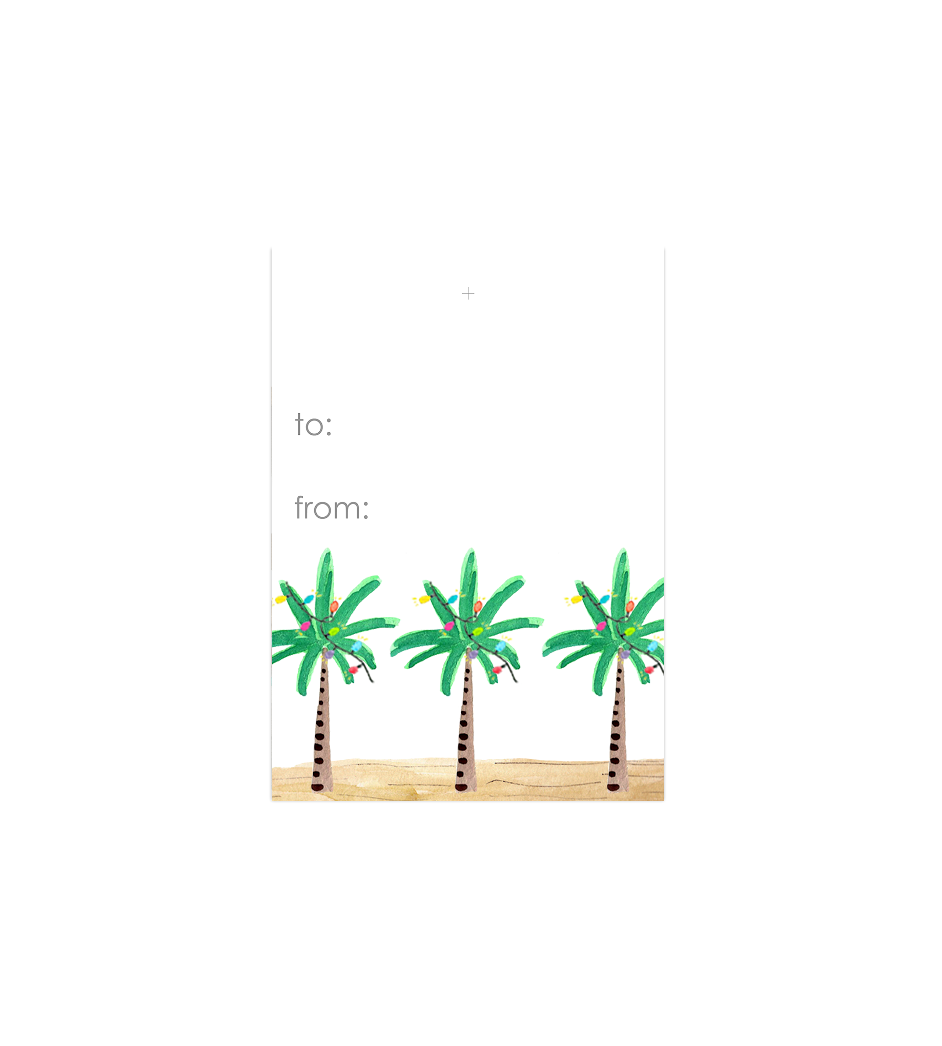 Lights on Palm Tree Gift Tag