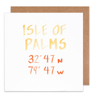 isle of palms coordinate card