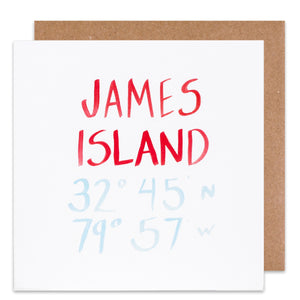 james island coordinate card