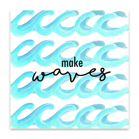 make waves print