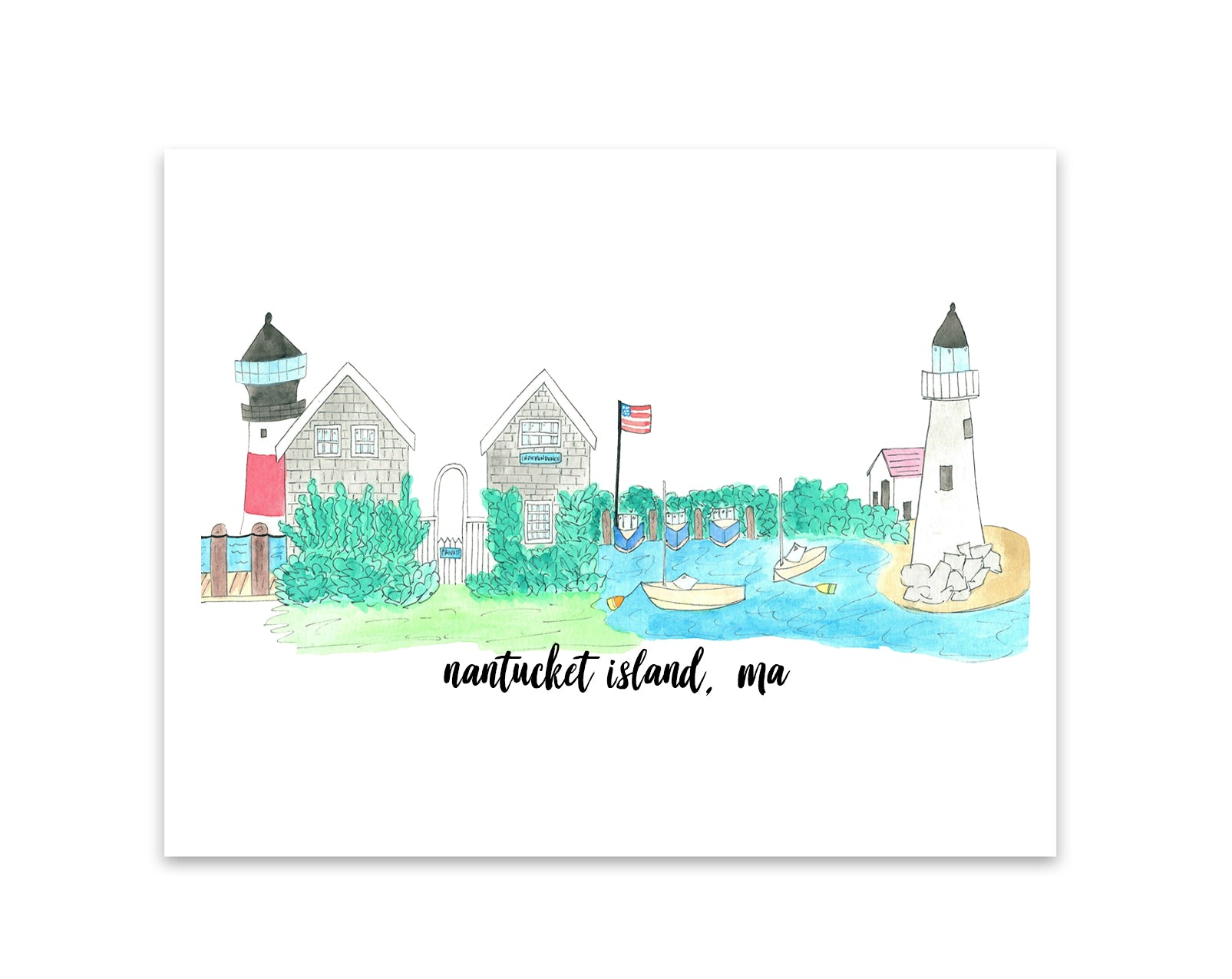 Nantucket Skyline Print