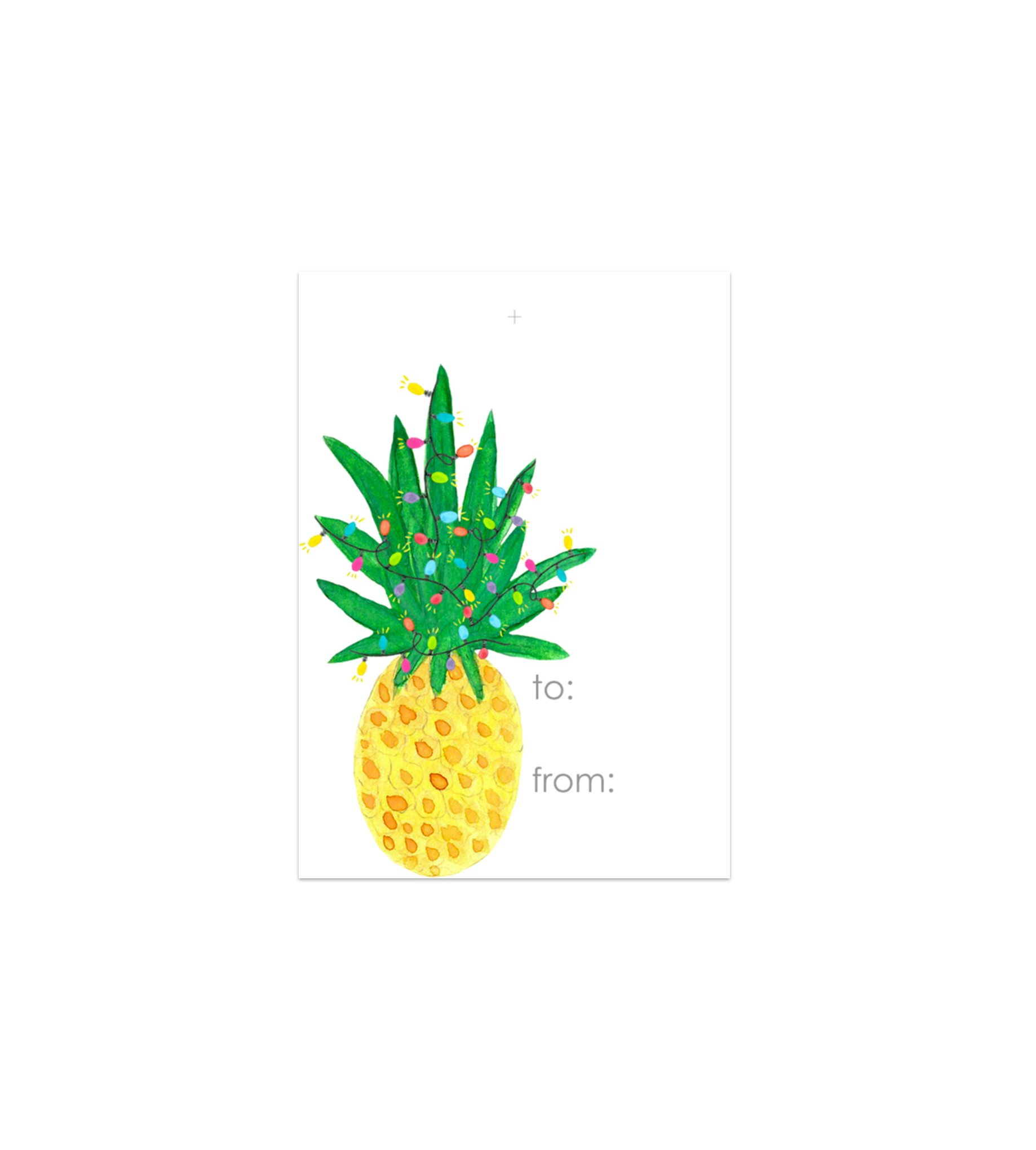 Pineapple Holiday Gift Tags