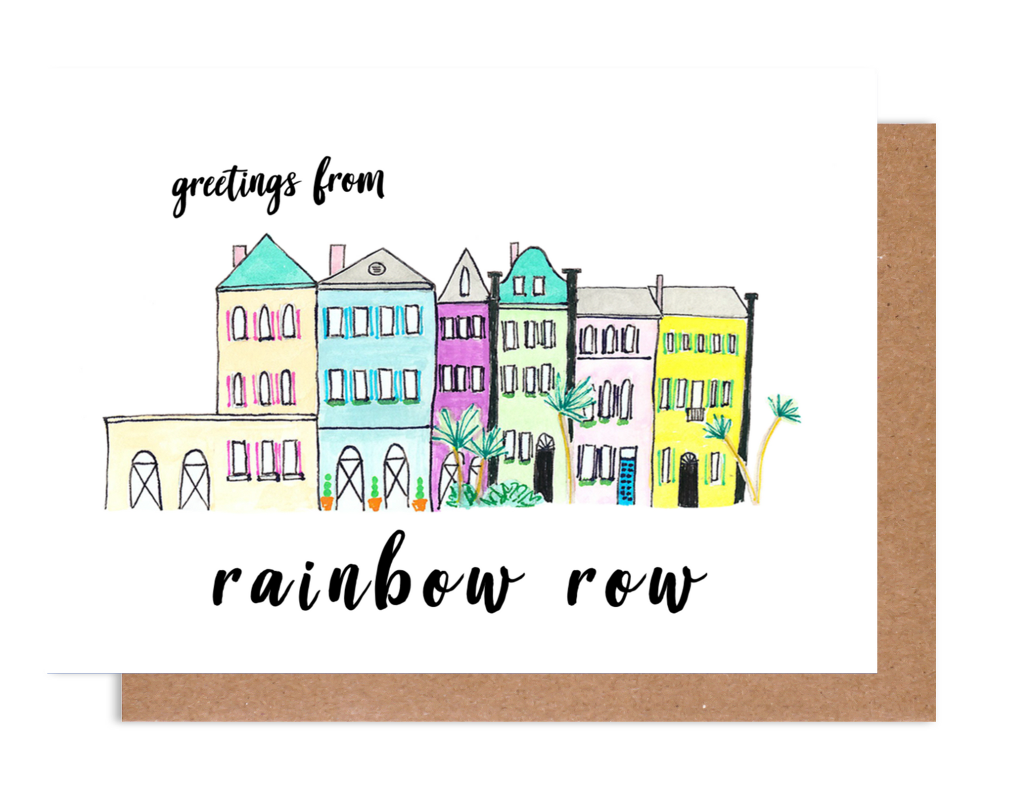 Greetings from Rainbow Row Card