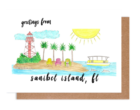 Greetings from Sanibel Island, FL Card