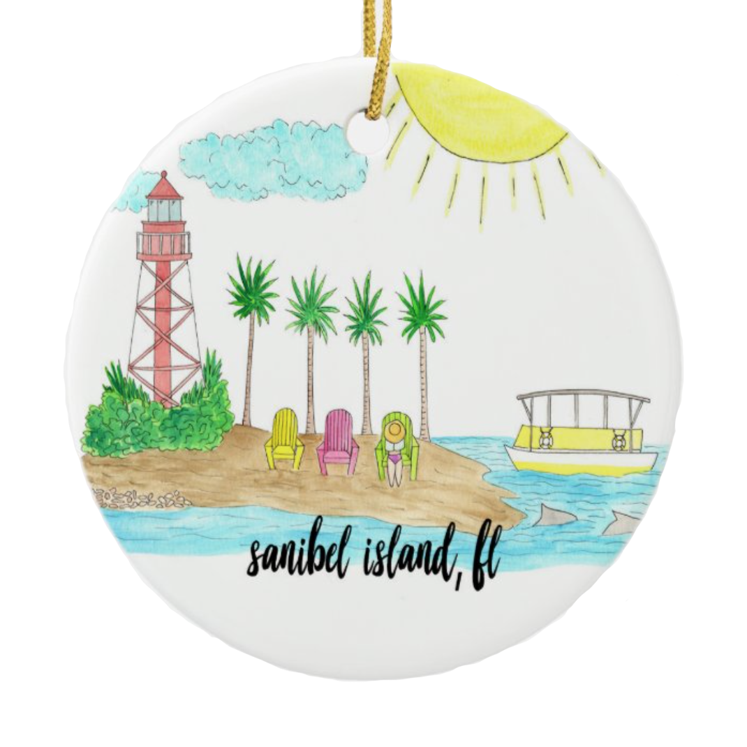 Sanibel Island, FL Ornament