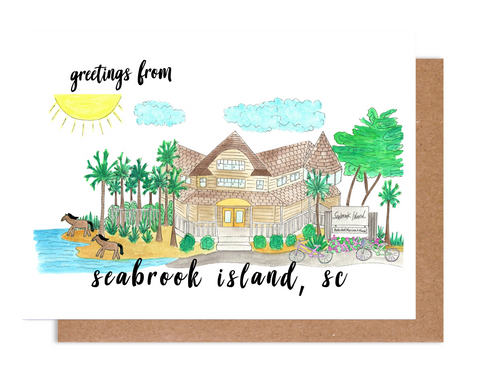 Greetings from Seabrook Island, SC Card
