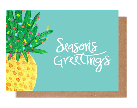 Pineapple Greetings Holiday Card