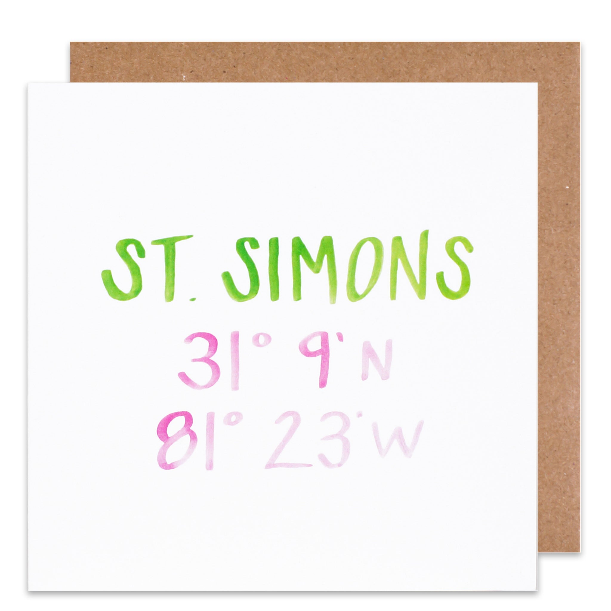 st simons coordinate card