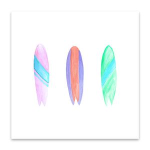 surf board trio print