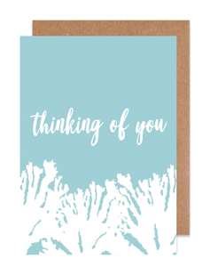 Thinking of you coral Card