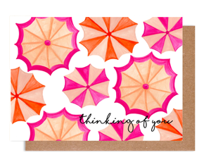 Thinking of You Umbrella Card