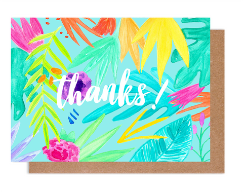 Tropical Thanks! Card