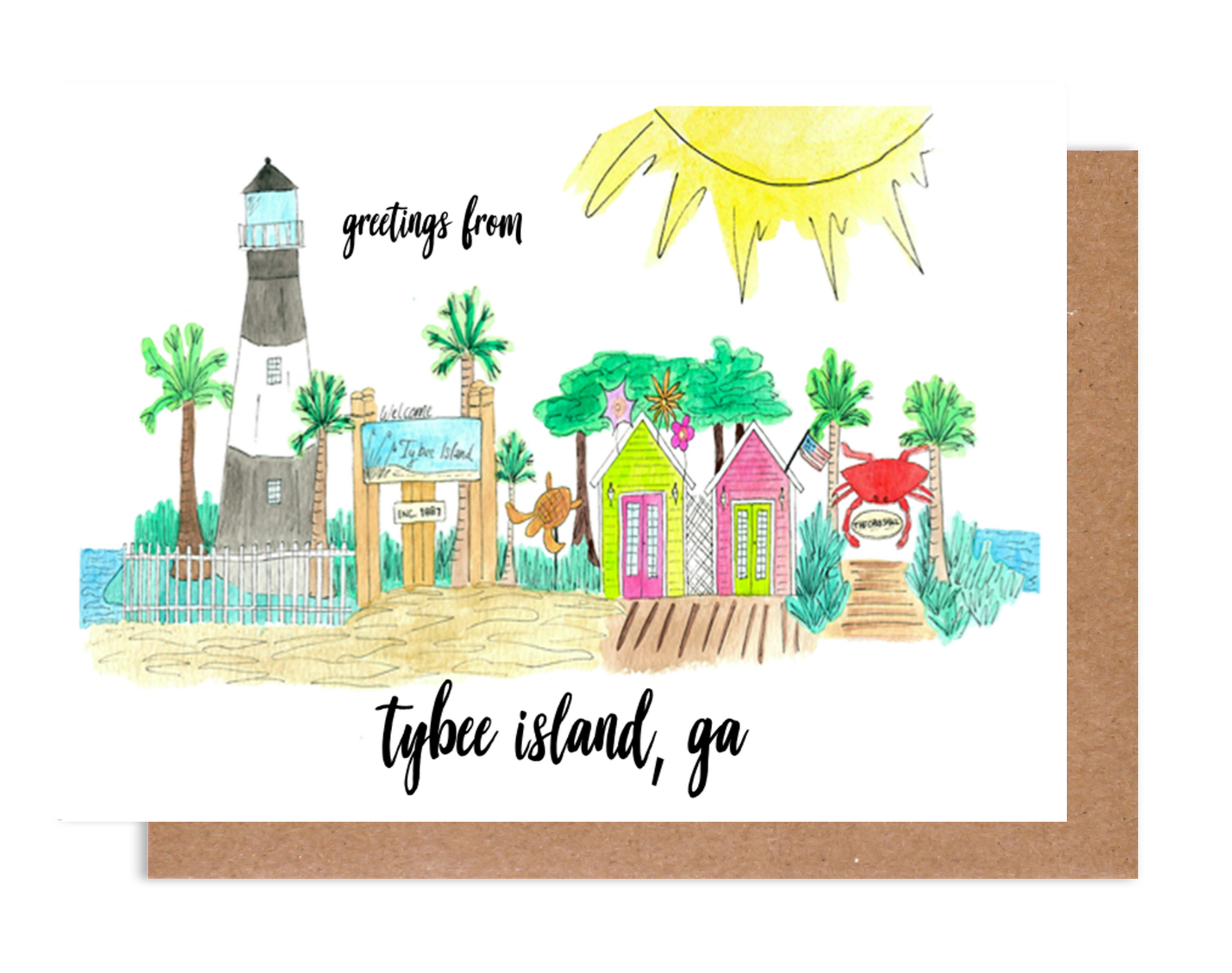 Greetings from Tybee Island Card