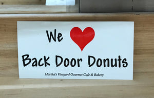 Sticker: We <3 Back Door Donuts