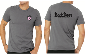 Short Sleeve T-Shirt: Cursive Backdoor