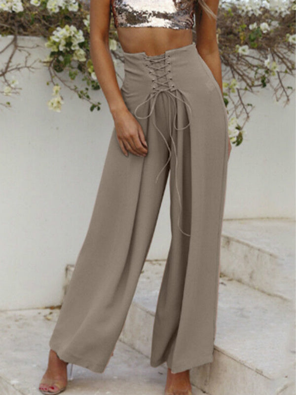 Casual solid color trousers