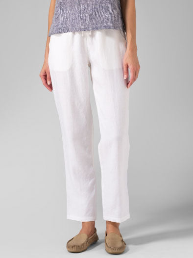 Daily Casual Cotton-blend Solid Pants