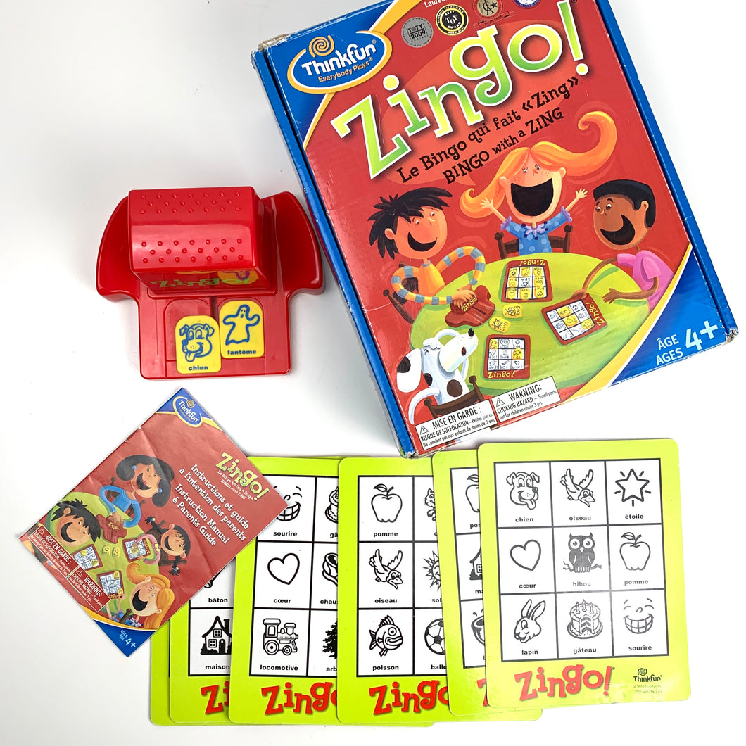 Zingo Word & Picture Matching Game *BILINGUAL FRENCH/ENGLISH*