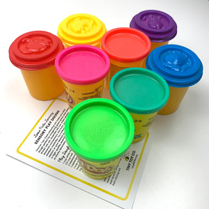 Play Dough Storage & Colour Sorting Set *SORTING TOYS & RECIPE INCLUDED*