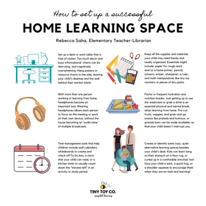 FREE DOWNLOAD: How To Set Up a Successful Home Learning Space