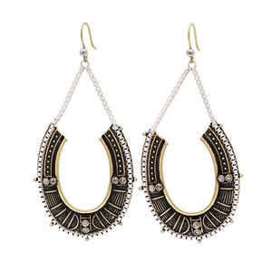 Tribal Chain Hooped Earring