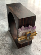 Load image into Gallery viewer, Wood & Stone Cube Bracelet