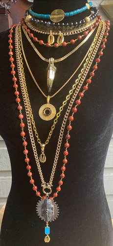 Punu Multi-chain Necklace