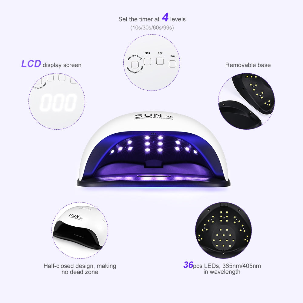 Ultraviolet LEDs Lamp for Gel Polish Nail Care