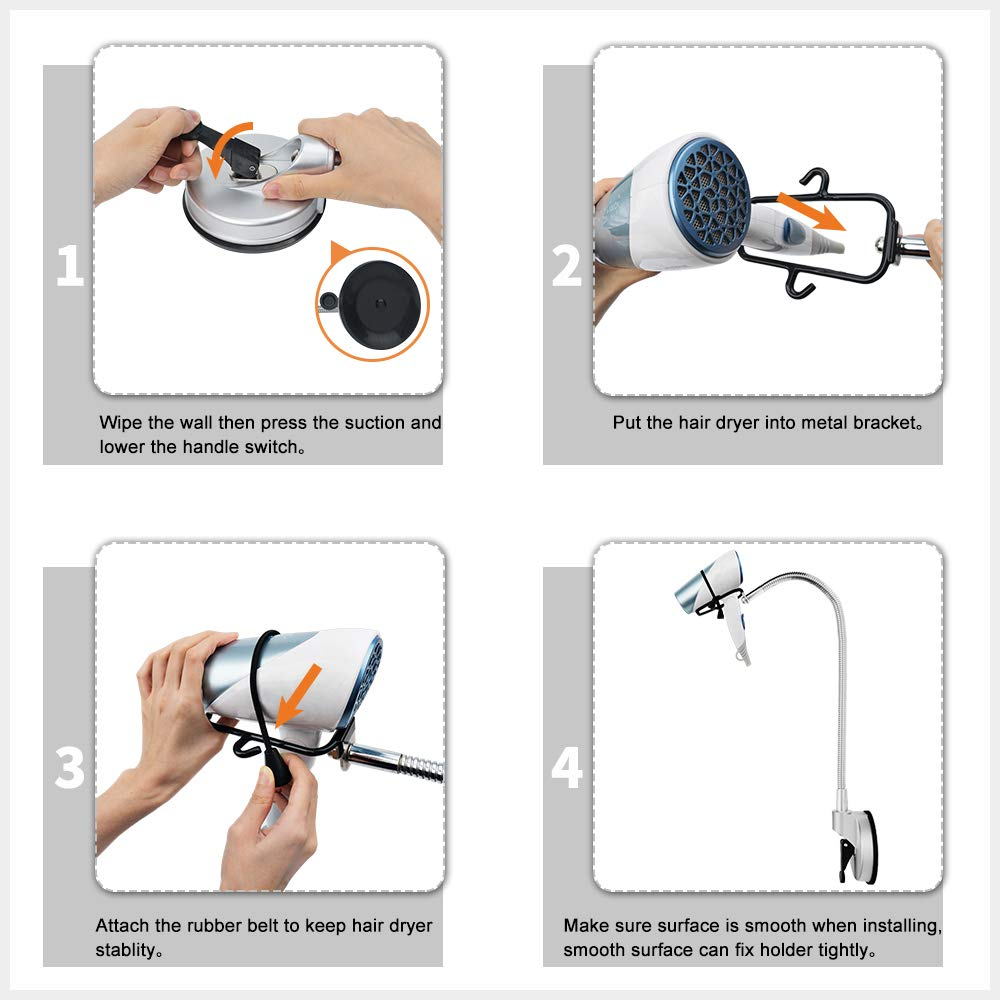 Smart Handsfree 360 Hair Dryer Holder