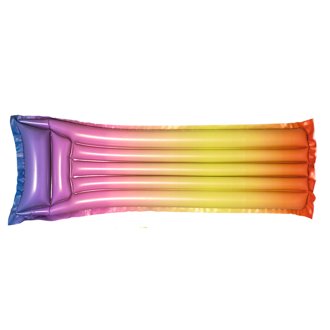Bestday Rainbow Color Inflatable Float