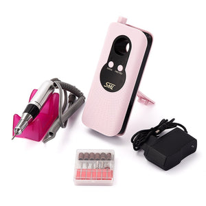 30W 35000RPM Rechargeable Nail Drill Machine Portable Electric Nail Polish Drill Set Manicure Pedicure Polisher Nail Art Tools