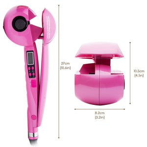 Automatic Ceramic Hair Curler with Lcd Screen