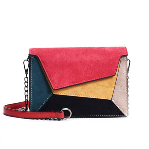 Patchwork Leather Messenger Bag