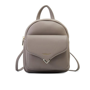 Leather MultiFunction Small Backpack