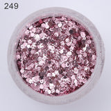 1 Box Pink Purple Shiny Nail Glitter Designs 2019