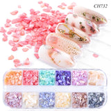 12 Grids Mixed Color Marble Powder