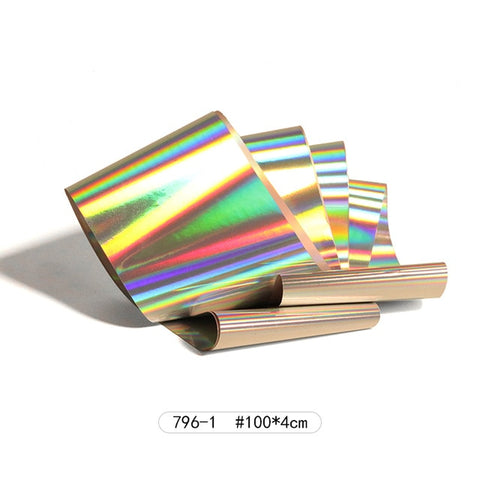 8 pieces Holographic Nail Foil Colorful Stickers