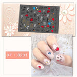 2pcs 3D Nail Art Sticker Decal Summer Nails Decoration for Women Girls Kids