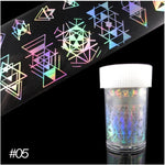 Holographic Transfer Nail Foil Paper Iridescent Nail Art Sticker
