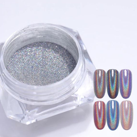 0.5g Holographic Laser Nail Glitters Holo Rainbow