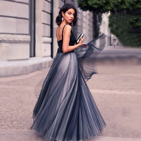 Elegant V-Neck Evening Dresses Long