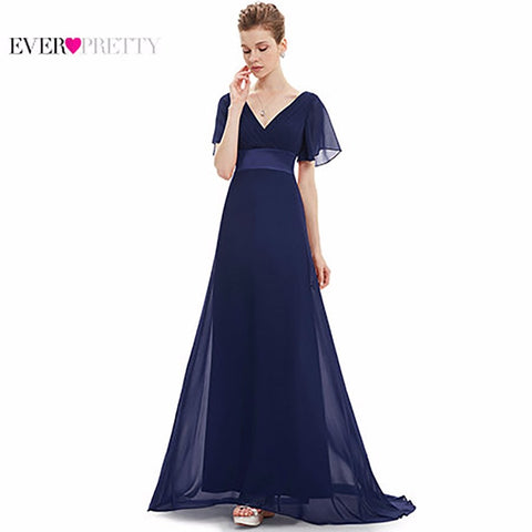 Evening Dresses Padded Trailing Flutter Sleeve Long
