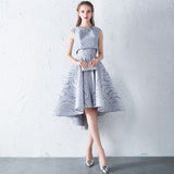 New Simple Elegant Evening Dress Bride Grey & Red