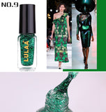 6ml Sequin Nail Polish Golden Natural Dry 2019